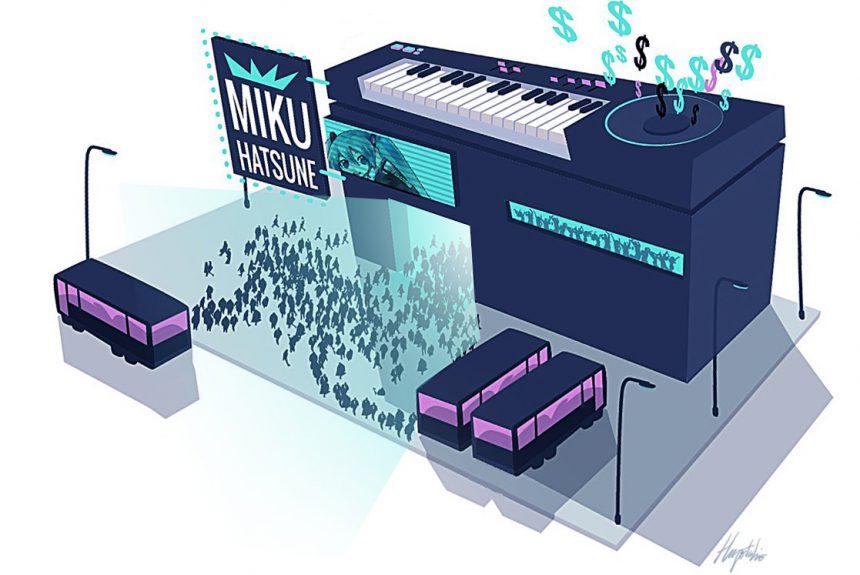 Toda la propuesta de Hatsune Miku se basa en hologramas