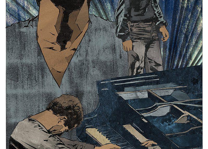 """Ilustración de Naiel Ibarrola para el artículo """"Keith Jarrett, Nude Ants y la importancia del contexto"""""""